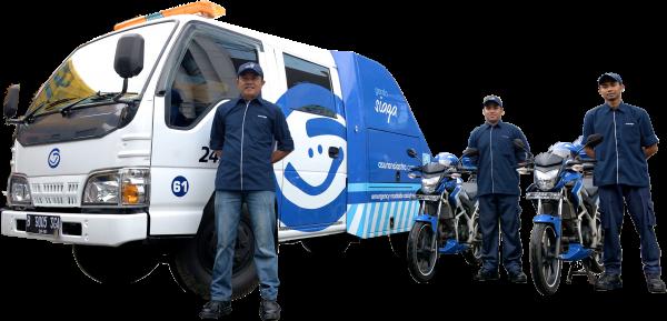 Garda Siaga - Layanan darurat kendaraan bermotor dari Asuransi Astra - Emergency Roadside Assistance. Mencakup layanan derek, aki habis, mati mesin, dll.