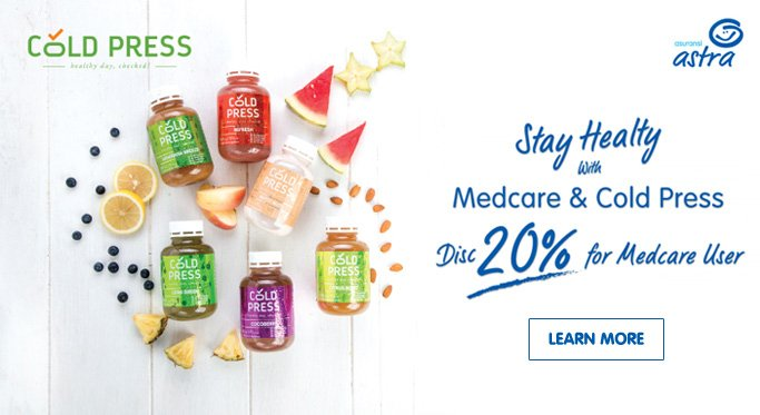 Promo medcare dengan Cold Press
