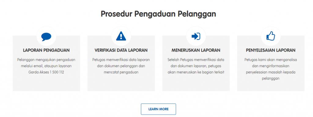 prosedur pengaduan pelanggan