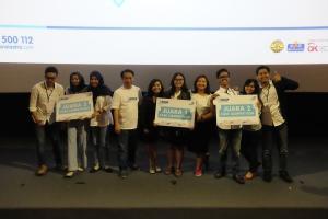 Santosa, CEO Asuransi Astra bersama para pemenang Z-Ideas wilayah 2