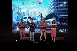 Santosa (kedua dari kiri) bersama dengan perwakilan dari partner GOHF yaitu SPBU Shell, Hero-Giant, dan Electronic City