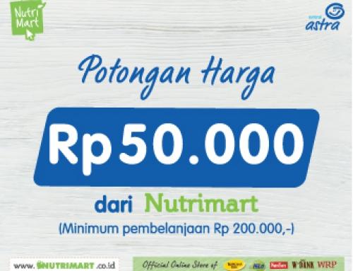 Enjoy NUTRIMART Special Discount Voucher IDR 50.000