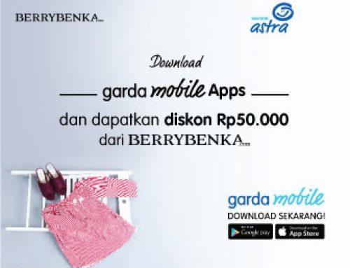 Promo Rp 50.000 dengan Berrybenka dengan Garda Mobile