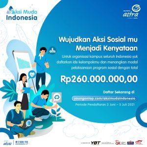 Asuransi Astra ajak mahasiswa untuk memberikan peace of mind pada masyarakat melalui ajang #AksiMudaIndonesia
